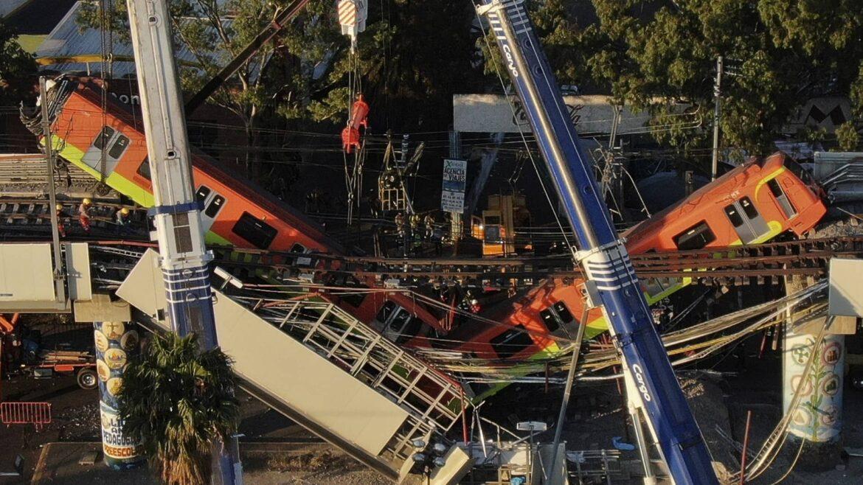 Heridos colapso metro Ciudad Mexico